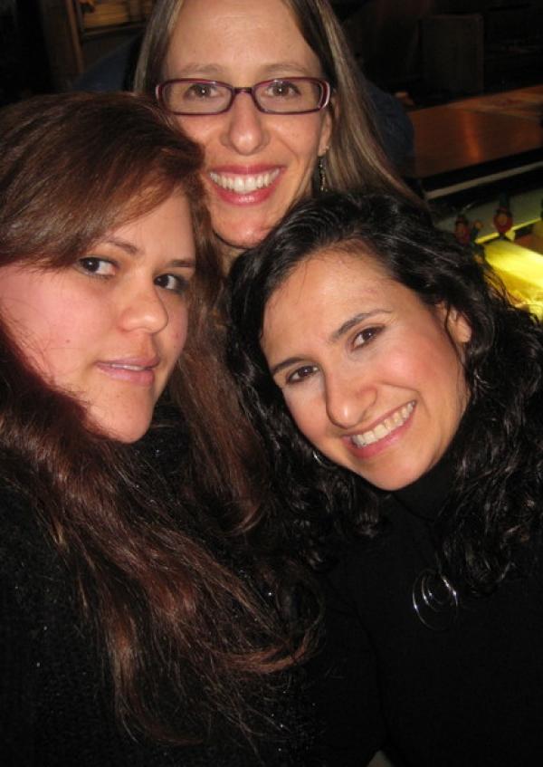 Mayara, myself and Sandy Zio strike a close up.