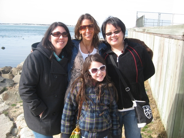 My moral support the whole weekend long, and best friends since kindergarten. Gina, me, Karen and Victoria!