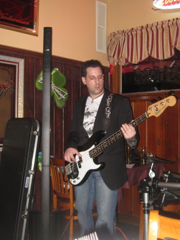Mike Thompson on bass