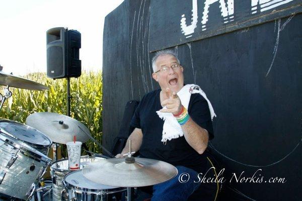 Dan rocked Corner Copia so much he broke his snare Photos by Sheila Norkis
