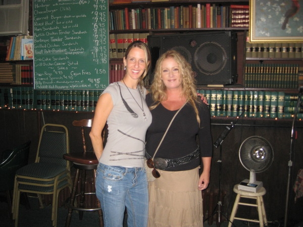 Patty Blee and Me at Library III in Egg Harbor Township.  What an amazing singer!