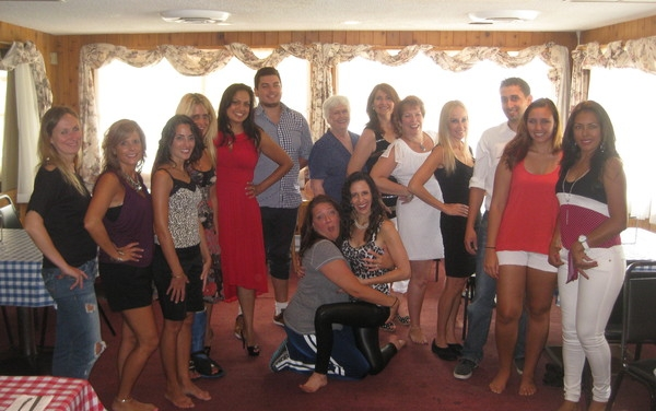 The dancers comprised of my very good friends since kindergarten, my neighbors, new friends and family.  I love you all!