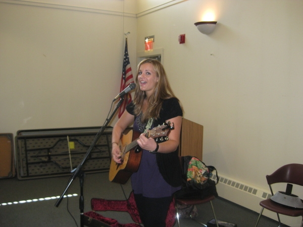 Natalie Acciani at the Haddonfield Library Songwriters in the Round