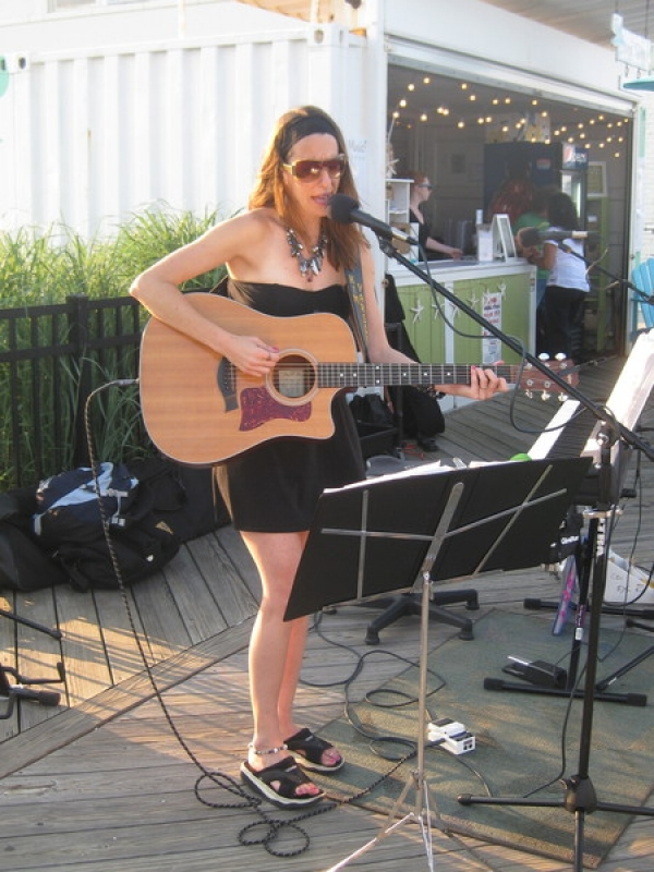 Playing the Sandwitch this summer 7/11 with Sandy Zio The moon, the beach, singing, what more can a gal ask for.