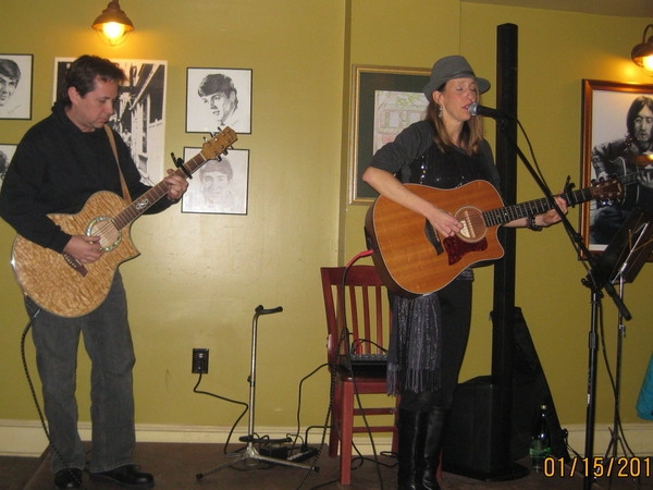 Paul Myatovich and I play at Burlington's Legend's Pizza