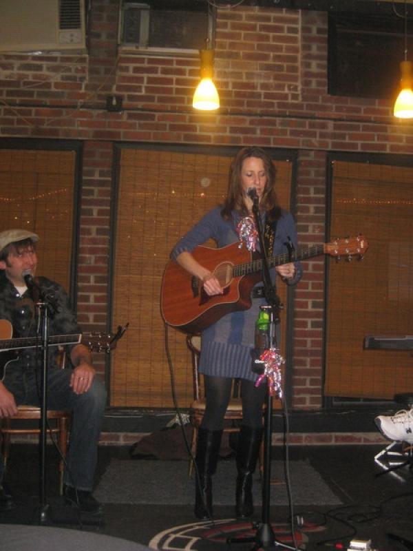Februrary 2011:  Kelly Carvin's Singer/Songwriter Shakedown in Trenton with Chuckie Schaeffer