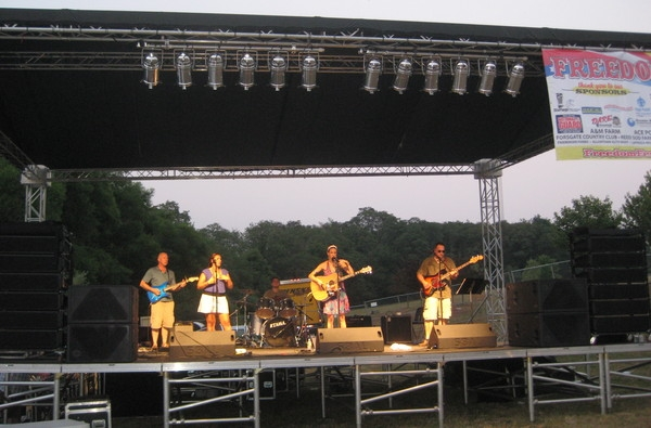 Freedom Fest at night as main act was a great stage to play on with my band.  I can't wait until next year.