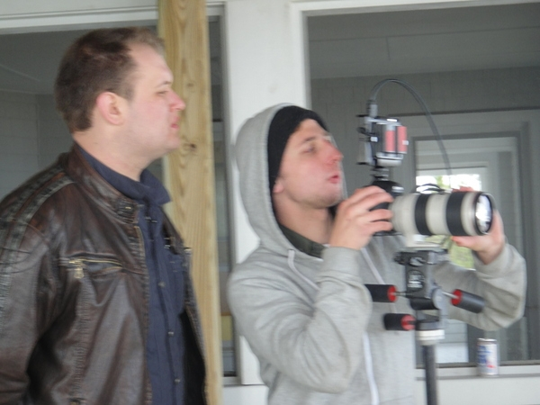 Jeremy and Michael viewing the band scenes
