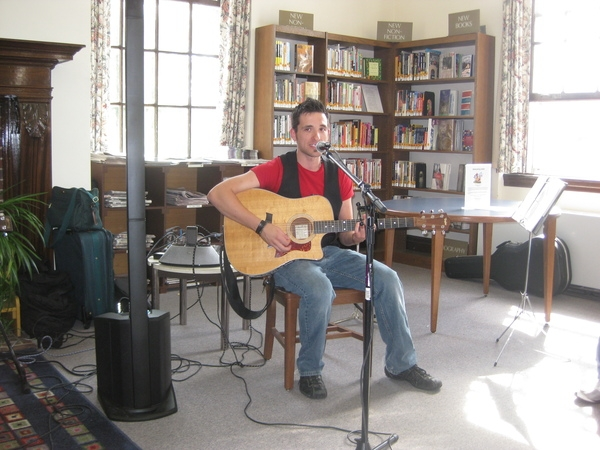 Kyle Puccarello, our guest songwriter who happens to also be a Bound Brook Library employee. Thanks for sharing your talent Kyle!