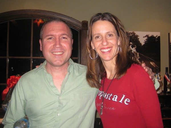 March 2011: Russell Norkevich and I at the New Hope Winery