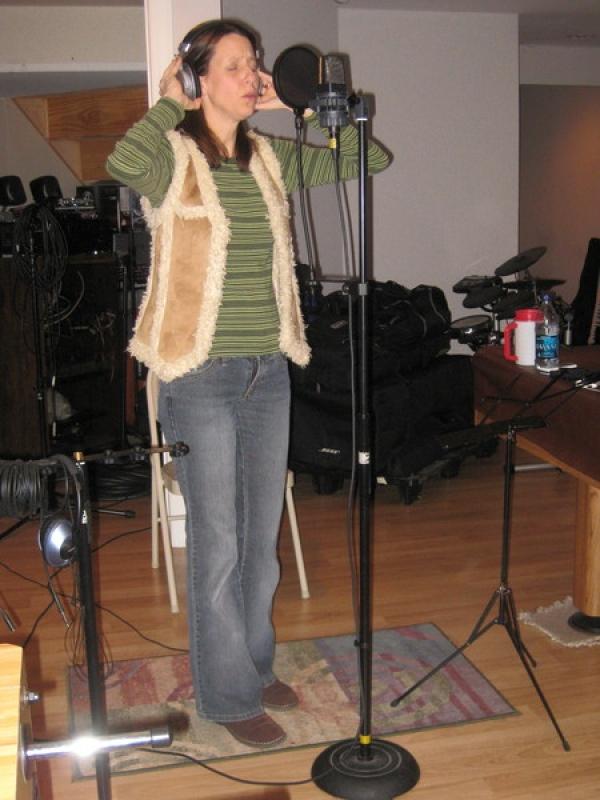 January 2011:  Recording Thankful CD at SBG Studioes in Robbinsville