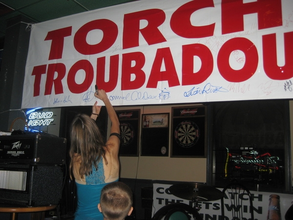 It is an honor to sign the Torchy's Troubadour banner and be a part of this funraiser with my band.
