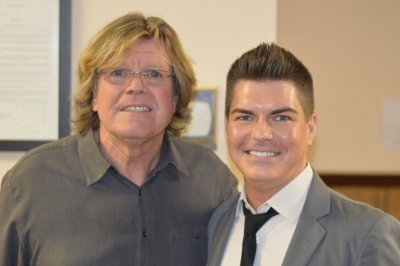 Stephen with Peter Noone