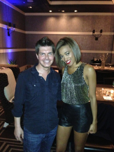 Stephen with Amanda Brown from The Voice