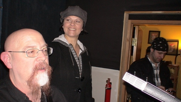 RJ with Michelle of The Blues Junkies, hanging at the studio.