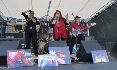 Big Sky Blues Festival in Noxon, MT; RJ, Honey Robin and Rob Baker on bass