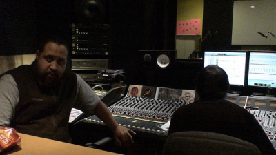 Bubba and Steve at the board getting set to record our new CD