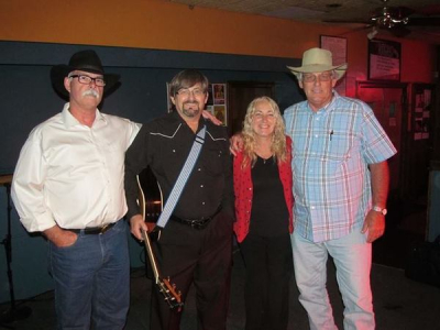 <p>Guitar player Joe, and David and Valerie Mayfield and Jim Avett </p>