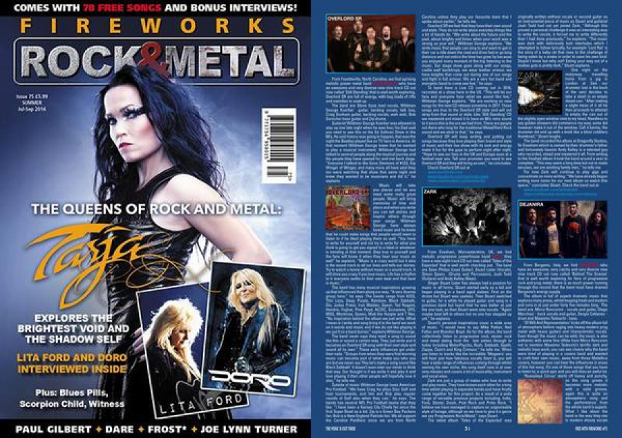 Our latest interview in Fireworks Rock & Metal Magazine in the UK. Our song