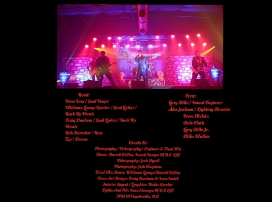 Back Cover of Still Alive and Standing CD.