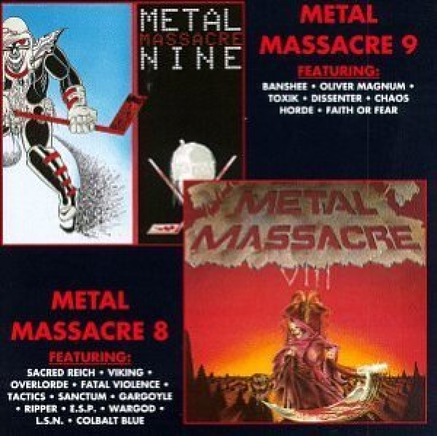 Metal Blade Records Release of Metal Massacres Volumes 8 and 9 combined in 2001 and on Vinyl in 2011
