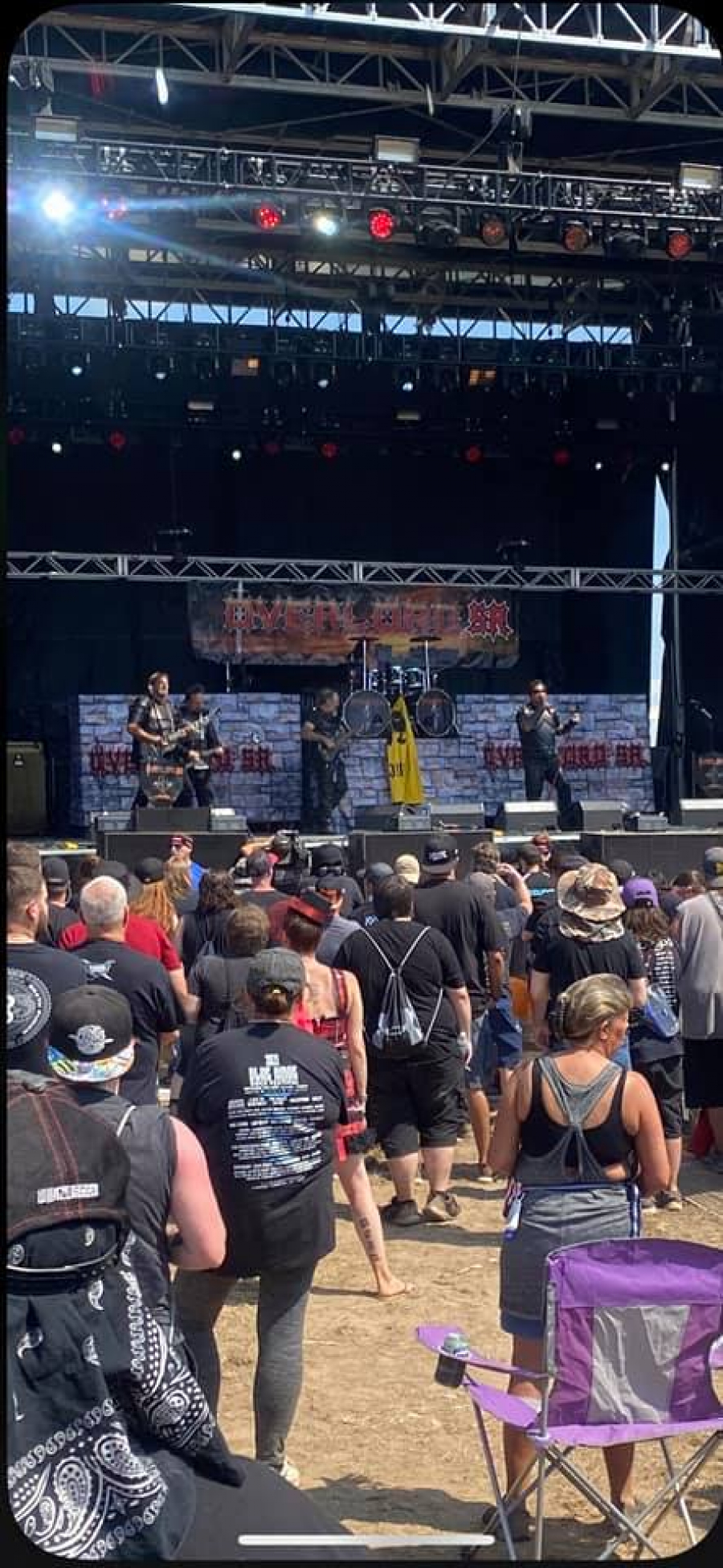 Overlord SR opening the Blue Ridge Rock Festival Staurday September 11th, 2021 to a Sold Out Crowd