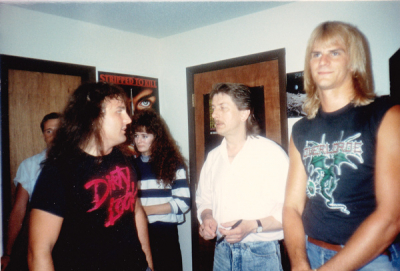 L to R Wildman George Koerber, Dave Hlland (Judas Priest) and Craig Dunham