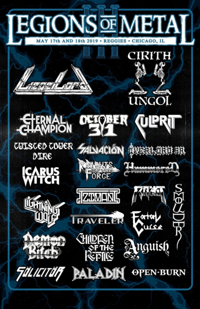 Legions of Metal Festival in Chicago May of 2019.