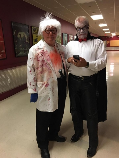 the Surgeon and the Drac (on phone)