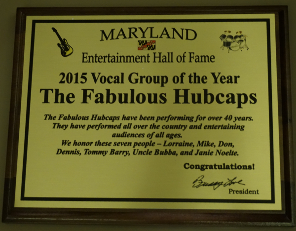 MD Entertainment HoF - 2015 Vocal Group of the Year
