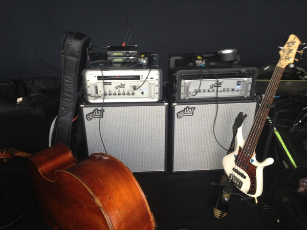 <p>&nbsp;Chris Botti Instrument Situation, 2012. Mathias Thoma Upright with David Gage Realist pickup and AMT mic, Callow Hill OBS 5. Double Aguilar db 751. Powerful stuff.&nbsp;</p>
