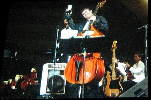 <p>&nbsp;the big screen at Hollywood Bowl with Jamie Cullum, 2007.&nbsp;</p>