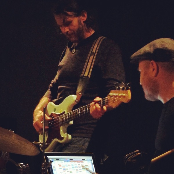 <p>&nbsp;with Ben Perowsky @ Blue Whale, 2012. Photo by Maria Santos.</p>