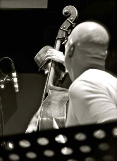 <p> tim + Gary Novak, NYE 2011 at Blue Whale LA, Billy Childs Quartet, photo by jessica rain</p>