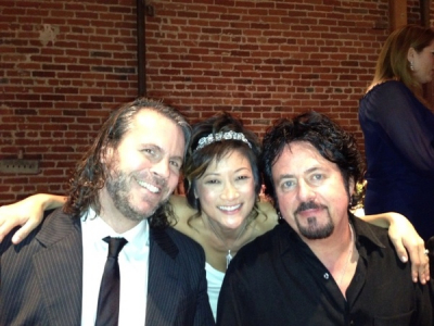 <p> myself, the ravishing bride songa lee, steve lukather, nov 2012</p>