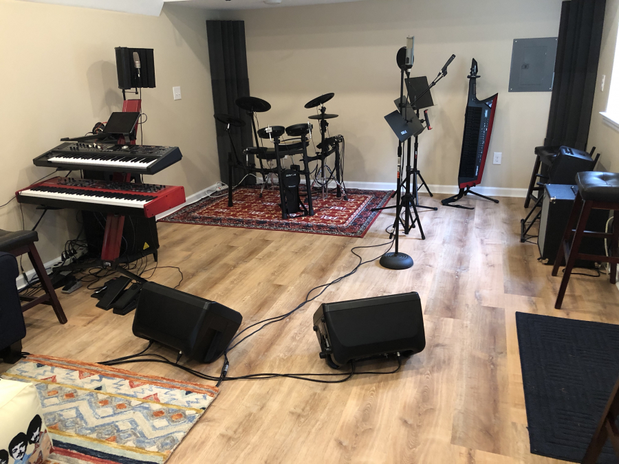 432 Studio tracking and rehearsal area
