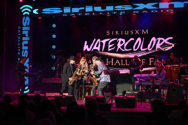 Onstage with Boney James, Candy Dulfer, Brian Culbertson, and Brian Simpson on the Smooth Jazz Cruise.