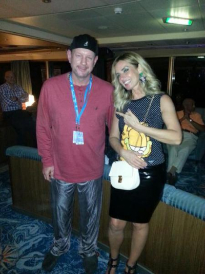 Smooth Jazz Cruise just hangin with Candy Dulfer on Pajama Jam Night