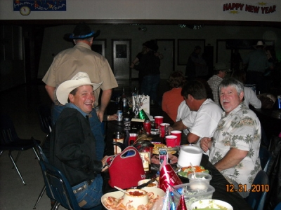 "<p>Having a ""Good Time"" at the BNB New Years Eve Party...  Jesse Bertran and George Baca....</p>"