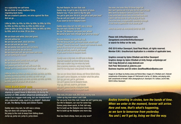 Insert - Liner Notes - Lyrics & Album Credits. Las Cruces, New Mexico, USA, sunset over Tortuga Mountain.