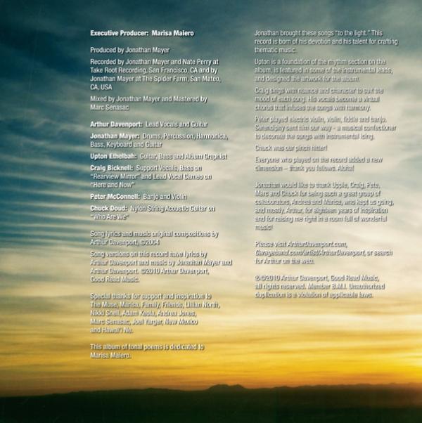 Album Jacket - Inside Panel - Album Credits