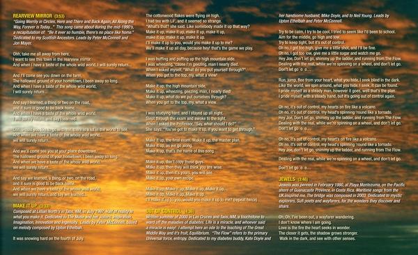 Insert - Liner Notes - Lyrics. Las Cruces, New Mexico, sunset.