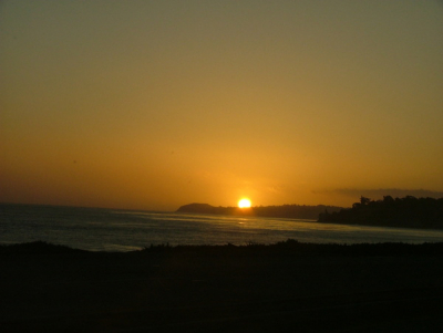 <p>Sunset in Malibu, CA - driving up the Pacific Coast Highway (PCH)</p>