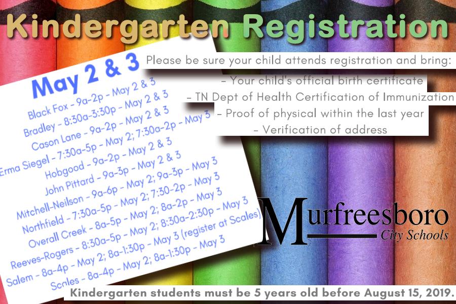 Mcs Kindergarten Registration Murfreesboro News And Radio