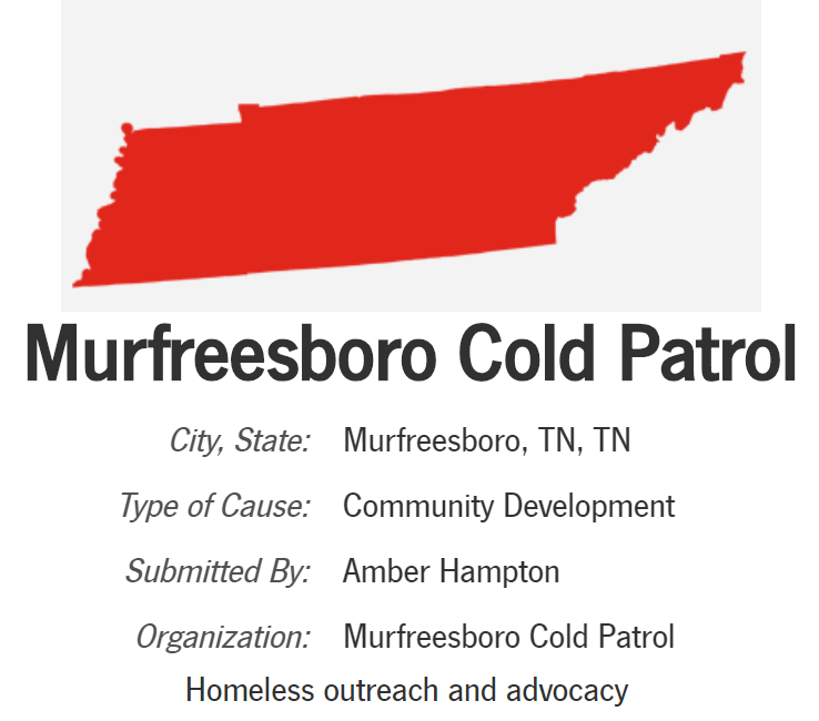 Help Murfreesboro, Tennessee Non-Profit Win a $25,000 Grant and hire a Case Worker