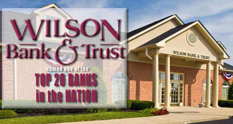 Wilson Bank & Trust named 19th Best Bank in Nation