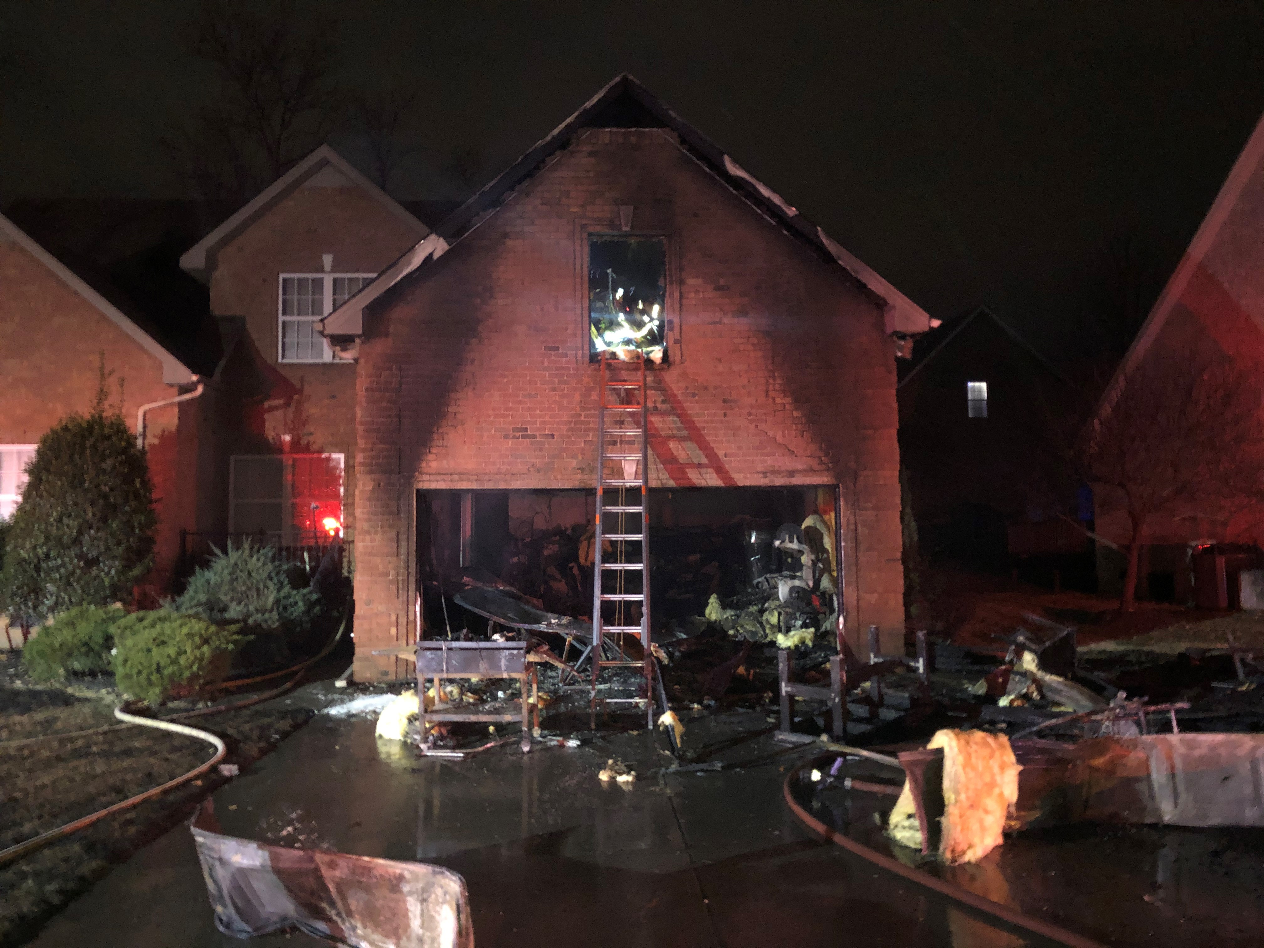 Family escapes house fire unharmed