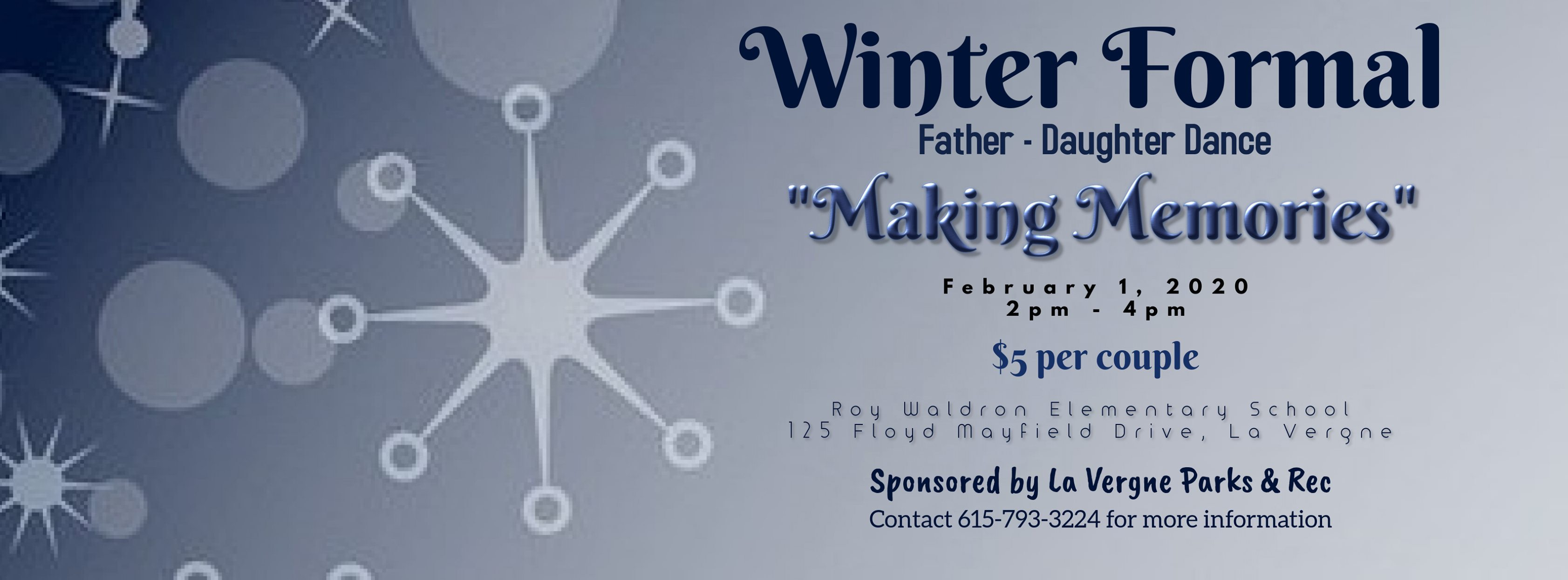 Father Daughter Dance in Rutherford County on Feb. 1