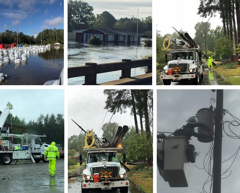 Murfreesboro Electric Crews Back from Flooded Lumberton, North Carolina