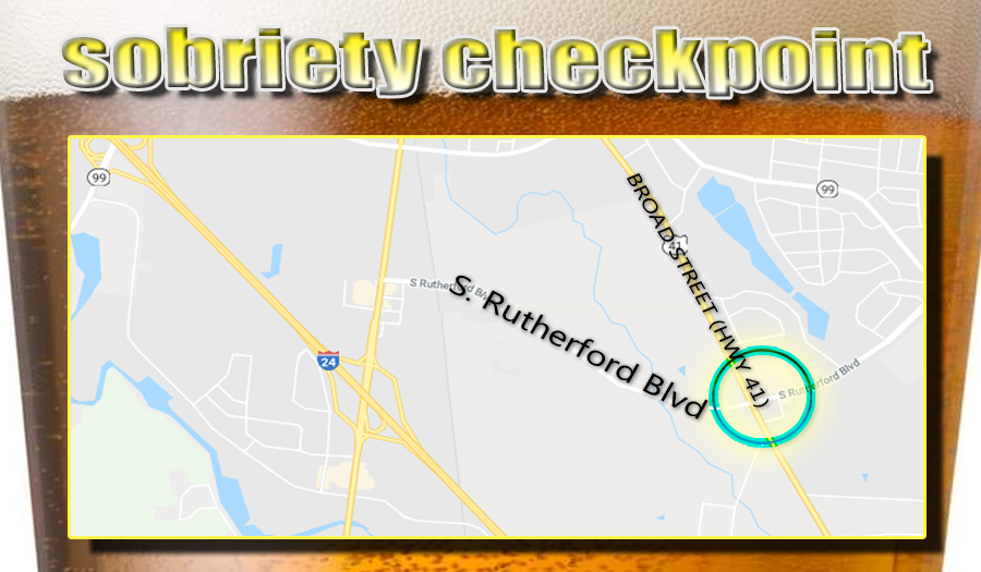 Sobriety Checkpoint this Friday night